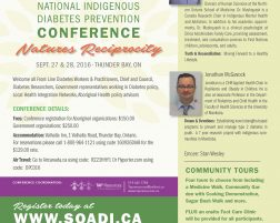 Registration for 2016 National Indigenous Diabetes Prevention Conference is now open