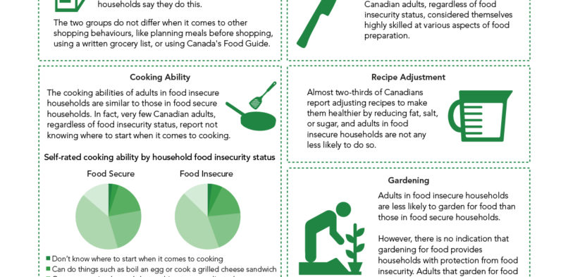 New Food Procurement, Food Skills & Food Insecurity Fact Sheet from PROOF