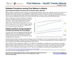 AFNIGC and Alberta Health release Diabetes Health Trends for First Nations in Alberta