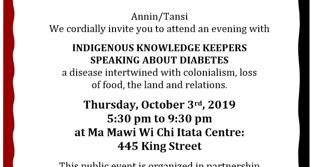 Indigenous Knowledge Keepers Speaking About Diabetes